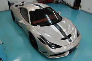 フェラーリ430ガラスコーティング