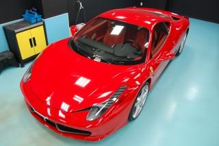 フェラーリ458イタリアガラスコーティング画像