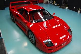 フェラーリF40ガラスコーティング画像