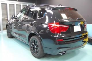 BMWX3ガラスコーティング画像