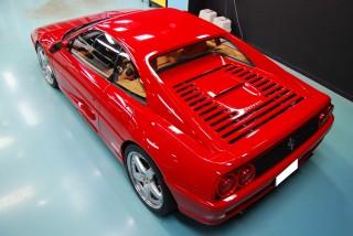 フェラーリ355ベルリネッタガラスコーティング画像